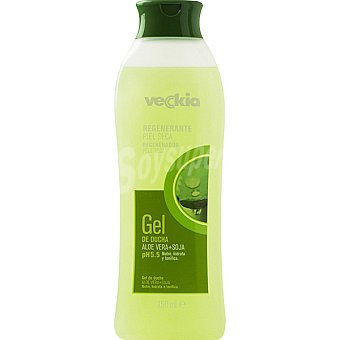 Veckia gel de baño regenerante con aloe vera + soja pH 5.5 para piel seca Bote 750 ml