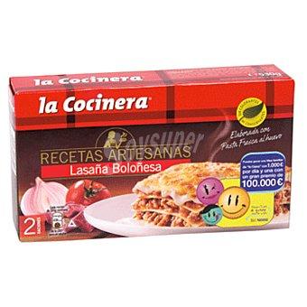 LA COCINERA RECETAS ARTESANAS Lasaña boloñesa  estuche 530 g