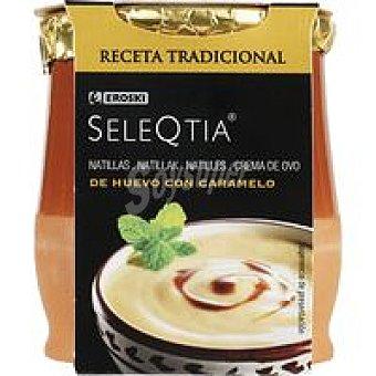 Eroski Seleqtia Natillas con caramelo 140 g