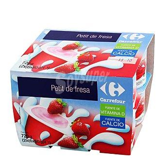 Carrefour Petit fresa Pack de 12x60 g
