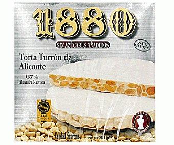 1880 Torta de turrón duro sin azucares añadidos 200 gramos