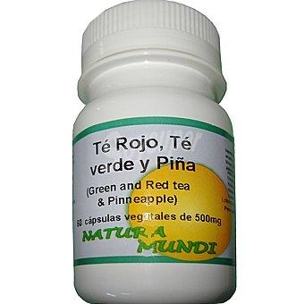 NATURA MUNDI té verde y rojo con piña Envase 60 unidades
