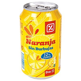 DIA Refresco sin gas naranja Lata 33 cl