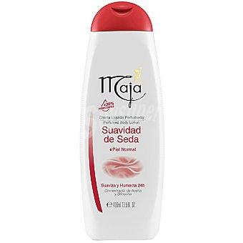 MAJA Leche corporal perfumada con extracto de avena y glicerina para piel normal Frasco 400 ml