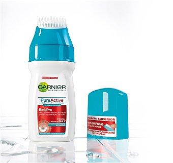Garnier Limpiador pieles Exfocepillo, elimina células muertas y las más difíciles impurezas, reduciendo la producción de sebo, Pure Active 150ml