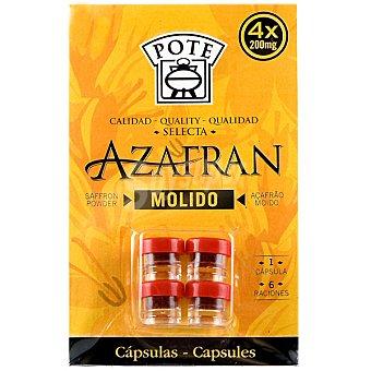 Pote Azafrán molido 4 envases de 0,2 g