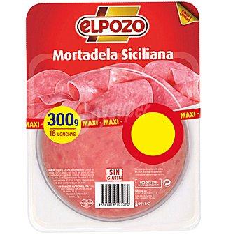 ELPOZO mortadela siciliana 18 lonchas envase 300 g
