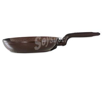 QUID Sartén modelo Full de 28 centímetros con cuerpo de aluminio, mango efecto goma y recubrimiento interior antiadherente de gran dureza y calidad 1 Unidad
