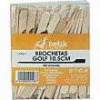 Brocheta de madera golf 15 cm Paquete 200 unid Betik