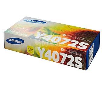 Samsung Toner Y4072, Amarillo, compatible con impresoras: CLP-320 / CLP-320N / CLP-325 / CLP-325W / CLX-3180 / CLX-3185 / CLX-3185FN / CLX-3185FW / CLX-3185N / CLX-3185W