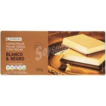 Eroski Turrón de chocolate blanco-negro Caja 300 g