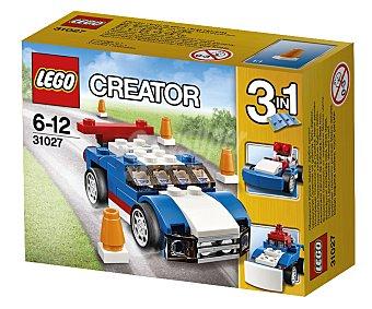 LEGO Juego de construcciones 3 en 1 Creator, el deportivo azul, 67 piezas, modelo 31027 1 unidad