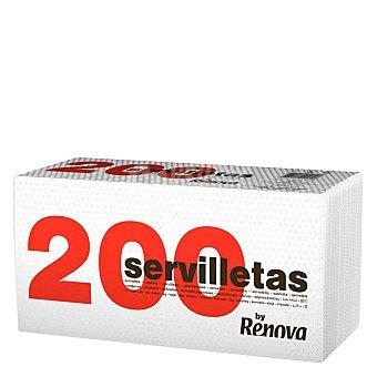 Renova Servilletas 1 capa 200 200pz Blancas 200 Ud
