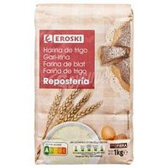 Eroski Harina de trigo para repostería Paquete 1 kg