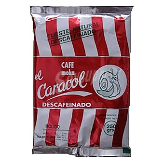El Caracol Café molido natural descafeinado 250 g