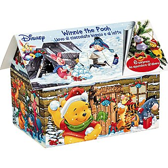 BIP CANDY Disney Chalet Winnie The Pooh con 6 huevos de chocolate blanco con leche Envase 120 g