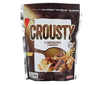 Auchan Mezcla de cereales con chocolate negro y avellanas 500 g