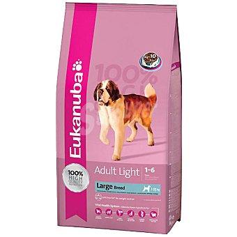 EUKANUBA ADULT LARGE BREED LIGHT Alimento completo para perro adulto de raza grande con sobrepeso rico en pollo Bolsa 3 kg