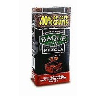 Baqué Café Molido Mezcla #50%_Natural_+_50%_Torrefacto Paquete 250 g + 10%