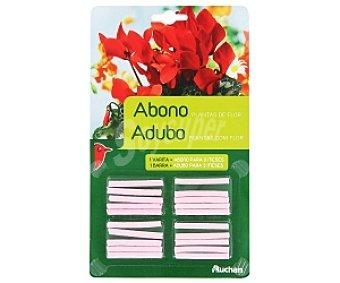 Auchan Fertilizante en varitas para plantas en flor, apto para plantas tanto de interior como de exterior 20 unidades