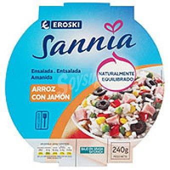 Eroski Sannia Arroz con jamón Tarrina 240 g