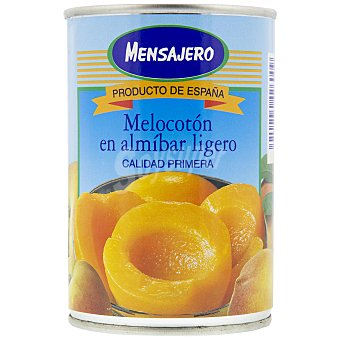 Mensajero Melocotón en almíbar ligero en Mitades 240 g