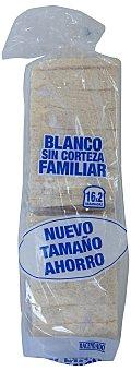 Hacendado Pan molde blanco sin corteza familiar (2 paquetes x 16 rebanadas) Paquete 900 g