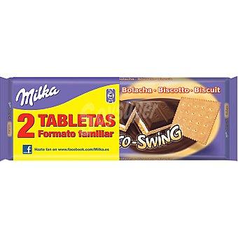 Milka Choco Swing. Chocolate con galleta  Pack 2x190 g