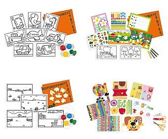 DISET Surtido de juegos artísticos, pinta, recorta, colorea... 6 modelos diferentes 1 unidad
