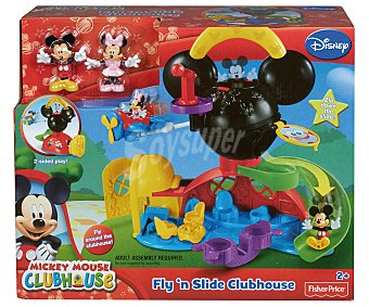 FISHER PRICE Casa de Mickey Mouse plegable con 2 figuras 1 unidad