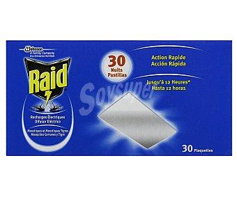 Raid Recambio de repelente insecticida eléctrico sólido 30 pastillas
