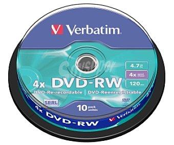VERBATIM 10 DVD-RW Spindle 10 dvd-rw 4,7GB 4x verbatim 10