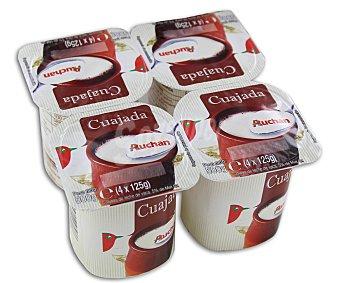 Auchan Cuajada de leche de vaca Pack 4 unidades de 125 gramos