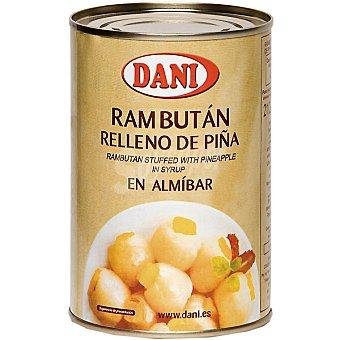 Dani Rambután relleno de piña en almíbar Lata 212 g neto escurrido