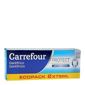Carrefour Dentifrico anti sarro Pack 2x75 ml