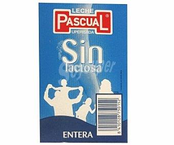 PASCUAL Leche entera Sin Lactosa 4 Unidades de 1 Litro