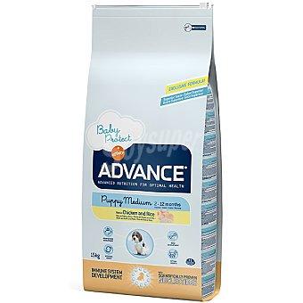 Advance Affinity Alimento de alta gama para cachorros de raza mediana rico en pollo y arroz Medium Puppy Bolsa 15 kg