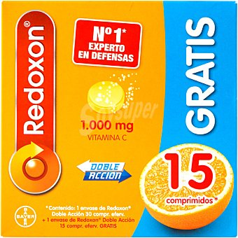 Bayer Redoxon doble accion con Vitamina C y Zinc 30 frasco 30 comprimidos 30 frasco 30 comprimidos