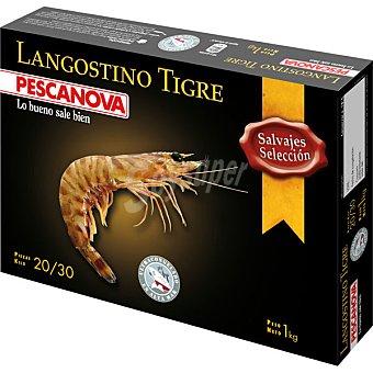 Pescanova Langostino tigre salvaje selección 20-30 piezas estuche 1000 g neto escurrido Estuche 1000 g neto escurrido