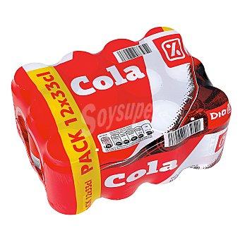 DIA Refresco de cola pack 12 latas 33 cl Pack 12 latas 33 cl