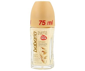 Babaria Desodorante roll-on avena unisex sin alcohol Frasco 75 ml