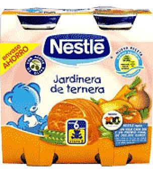 Nestlé Tarrito de jardinera de ternera Pack de 2x250 g