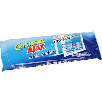 AJAX Toallitas Limpiacristales Triple Acción 20 Unidades