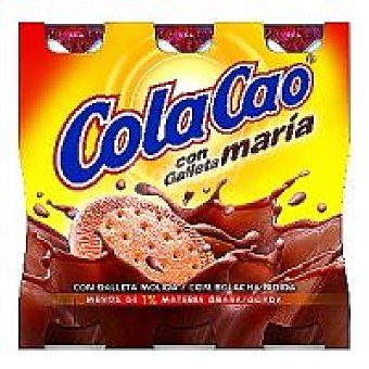 Cola Cao Batido de cacao con galleta Pack 3x200 ml