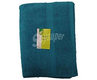 PRODUCTO ECONÓMICO ALCAMPO Toalla lisa de ducha de algodón cardado, color turquesa, 70x127 centímetros 1 Unidad