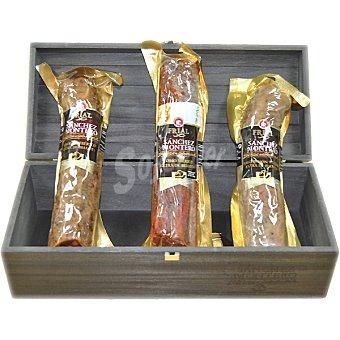 Sanchez Montero Chorizo ibérico de bellota + salchichón ibérico de bellota + lomo ibérico de bellota piezas cada una 500 g