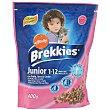 Alimento para gatos junior con pollo, arroz y leche bolsa 400 gr Brekkies Affinity