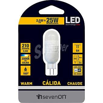 SEVENON 2,5 W (25W) lámpara LED luz cálida casquillo G4