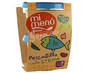 Dulcesol Tarrito de pescadilla a la crema 2 unidades 200 gramos
