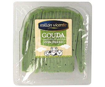 Millan Vicente Queso cortado gouda con pesto verde 175 g